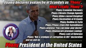 Phony President Obama