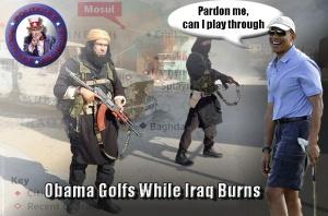 Obama Golfs While Iraq Burns